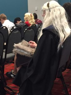 The Mother of Dragons in a panel on Gender Roles & Stereotypes.