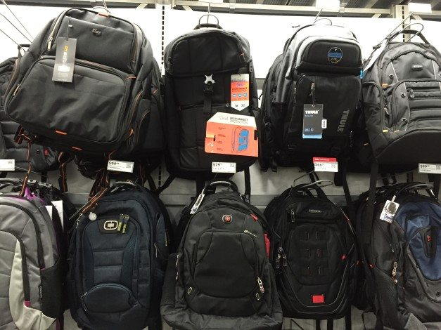 And, hey, look, even backpacks!