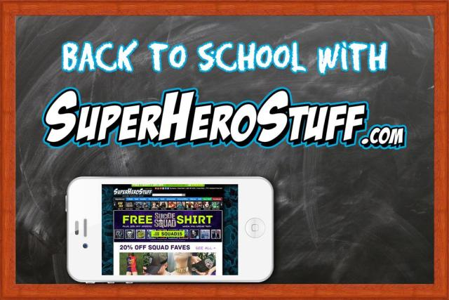 Back to school with SuperHeroStuff.com  Image: Dakster