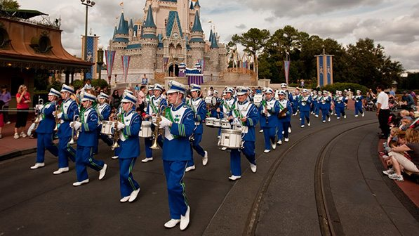 A Marching Band at Disney World, Image: Disney