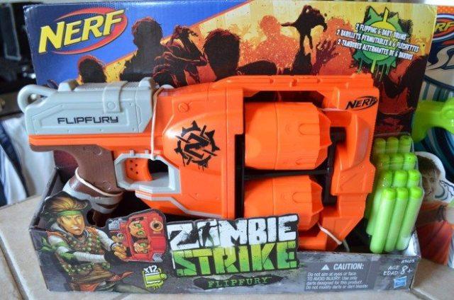 Nerf's Zombie Strike Flipfury double-revolver dart blaster. Photo: Patricia Vollmer.