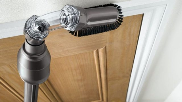 Clean hard-to-reach areas with this clever attachment. Image: Dyson