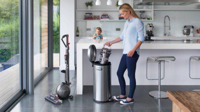 The canister is very easy to clean with no filters to wash. Image: Dyson