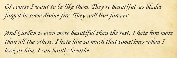 Excerpt from The Cruel Prince, Image: Sophie Brown