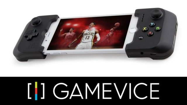 Gamevice attached to smartphone