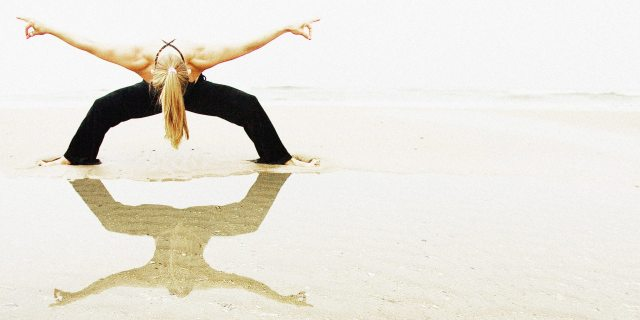 X-wing Yoga Pose