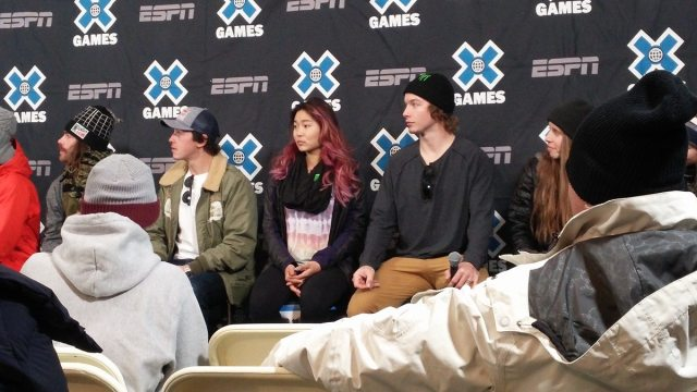 Chloe Kim at a press conference at the Winter X Games