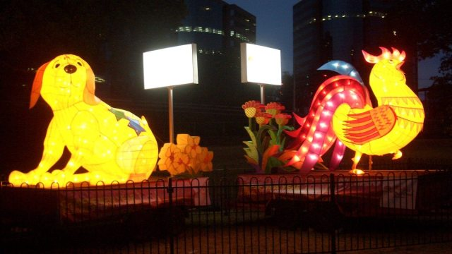 Chinese New Year Dog and Rooster