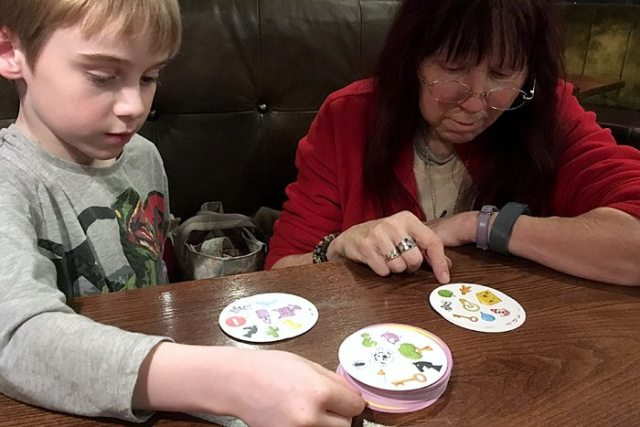 Dobble with Grannie at TGI Fridays, Image: Sophie Brown