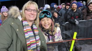 Chloe Kim and Judy Berna at the X Games