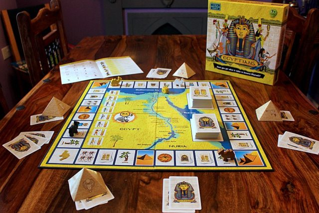 A Game of Egyptians Set Up for Four Players, Image: Sophie Brown