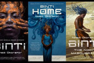 covers of Binti, Home, and Night Masquerade