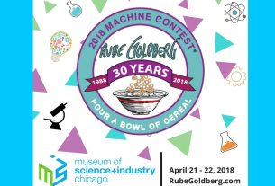 Image of announcement for Rube Goldberg Contest