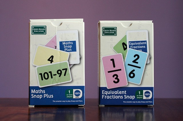 Maths Snap Plus and Eqivalent Fractions Snap, Image: Sophie Brown