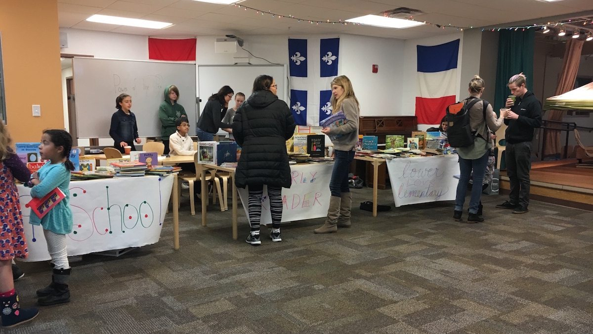 image of book swap fundraiser at school