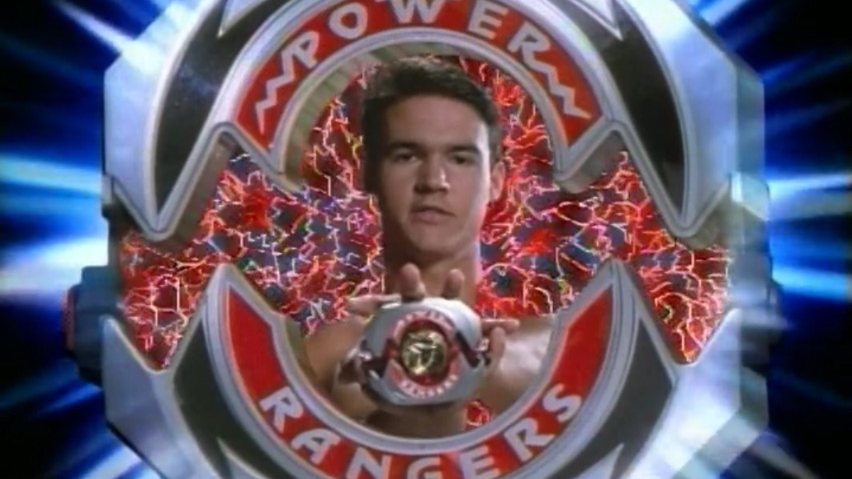 the Original Red Ranger during his morphing sequence