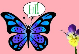 Social butterfly and shrinking violet