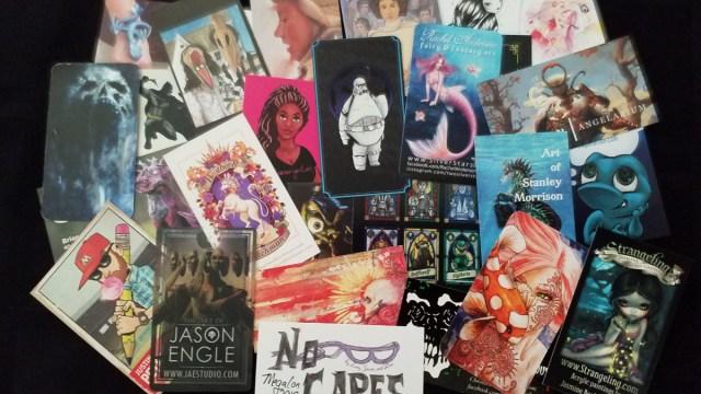 A sampling of cards from Artists at MegaCon Orlando