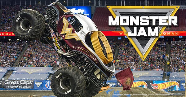 monster jam truck wonder woman australia