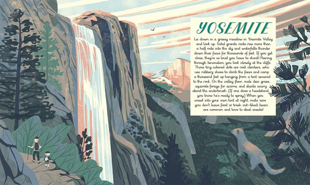 A Double-Page Spread Introducing Yosemite, Image: Wide Eyed Editions