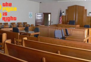 Traffic Court image with Price Is Right logo superimposed
