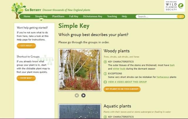 Go Botany Simple Key screenshot