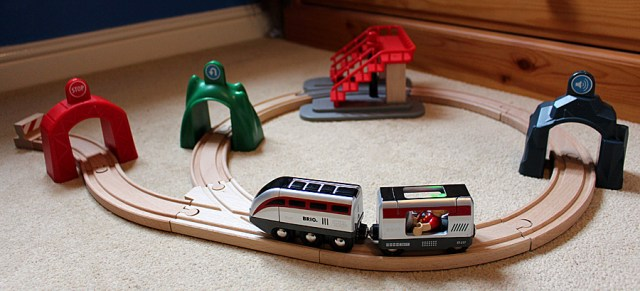 Brio Smart Engine Set with Action Tunnels in Action, Image: Sophie Brown
