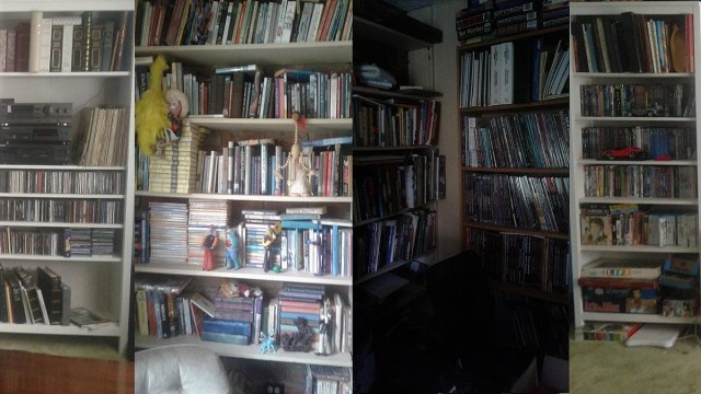5 home bookcases, full