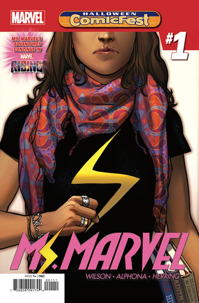 Ms Marvel #1 cover, via Marvel Comics