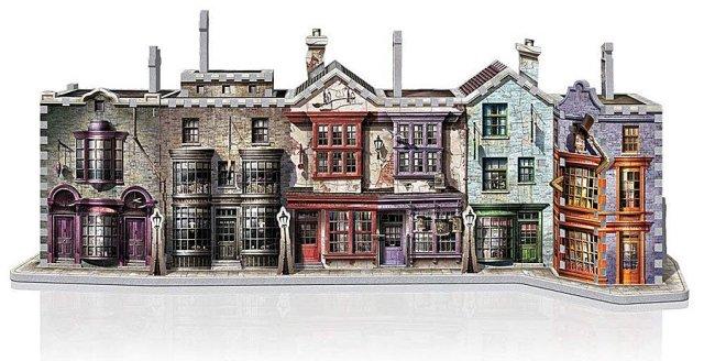 Diagon Alley Diorama Puzzle, Image: Wrebbit