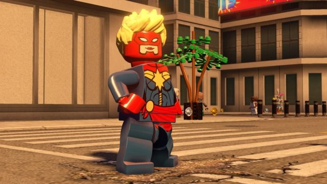 Classic Captain Marvel Appears in Lego Marvel's Avengers, Image: Warner Bros