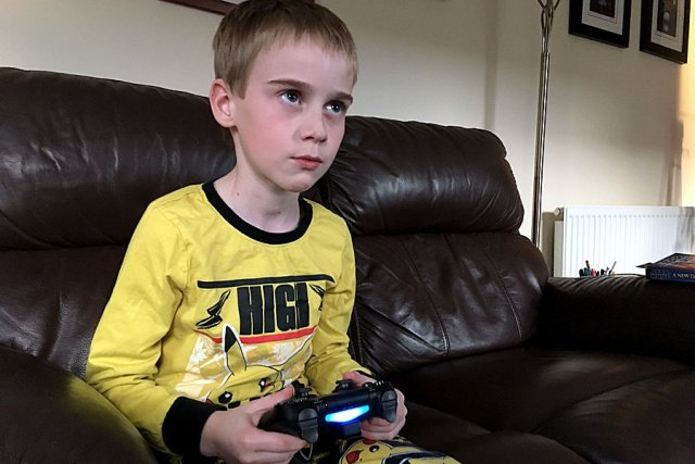 My Son's Game Face as he Plays, Image: Sophie Brown