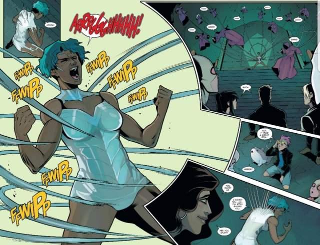 Ramone uses her vibranium powers in WCA Issue #10