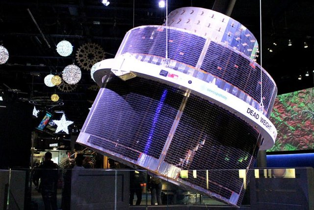 An Enormous Replica Satellite on Display at the National Space Centre, Image: Sophie Brown