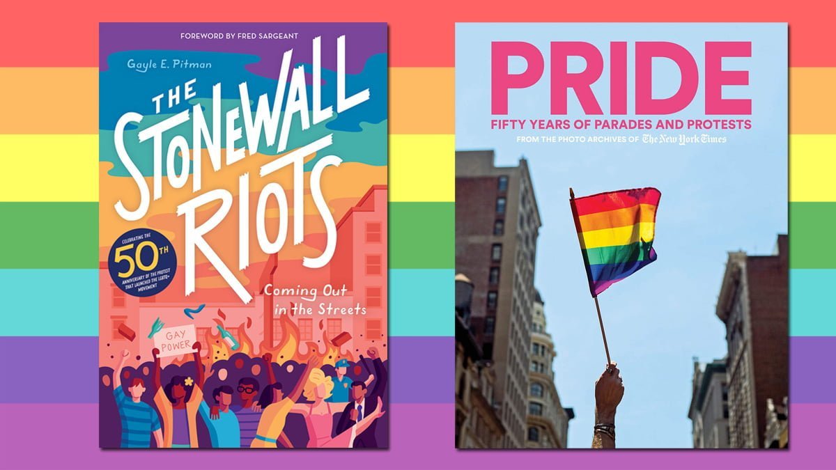 Books on the History of Pride and Stonewall, Cover Images: Abrams, Rainbow Flag: Public Domain