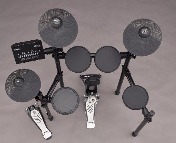 DTX drum kit overhead view