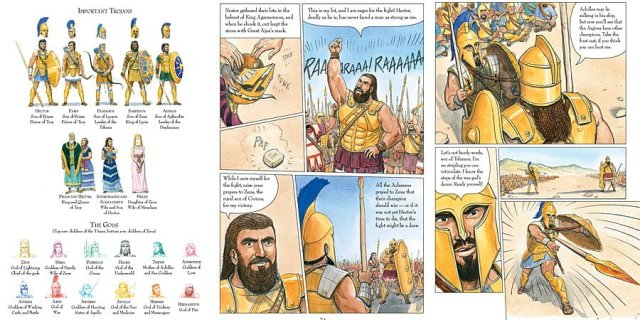 The Iliad Sample Pages, Images: Candlewick