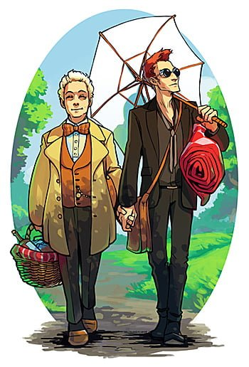 Good Omens Print by H0ly Hand Grenade, Image: H0ly Hand Grenade