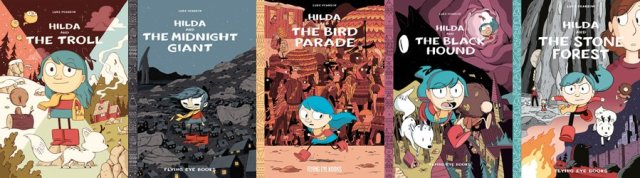 Hilda Graphic Novel Covers, Images: Flying Eye Books