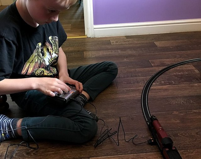 Running the Hogwarts Express Electric Train Set, Image: Sophie Brown