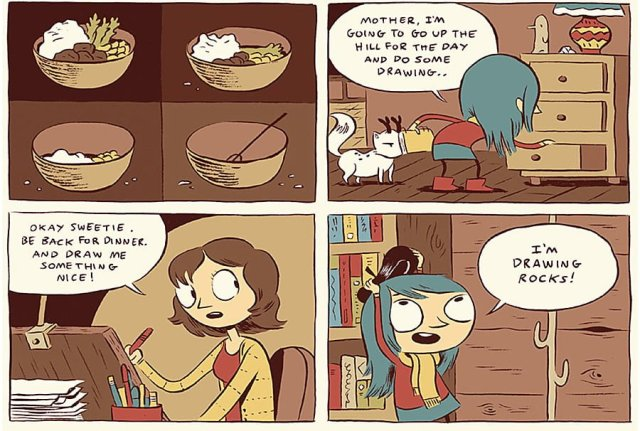 Sample Panels from Hilda and the Troll, Image: Flying Eye Books