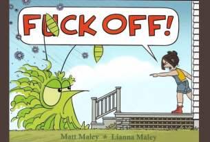 Teen Girl telling a negative cartoon to f*ck off.