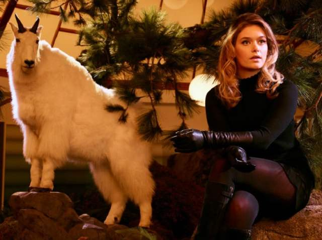 a goat and Rachel Keller as Sydney Barrett. Well that's what it IS!