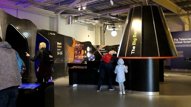 Inside the Space Pavilion, Image: Sophie Brown