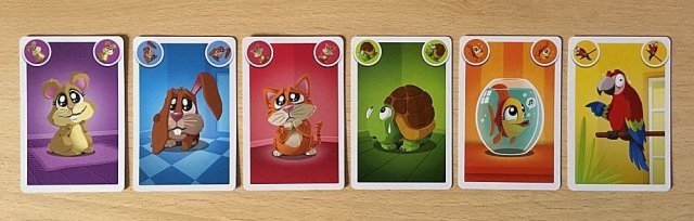 The Six Pet Types and Six Colors of Cards, Image: Sophie Brown