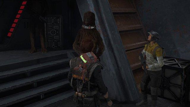 Cal meets Wookiees on Kashyyk, Screenshot: Sophie Brown