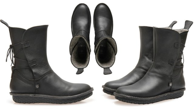 Rey Black Leather Boots, Images: Po-Zu
