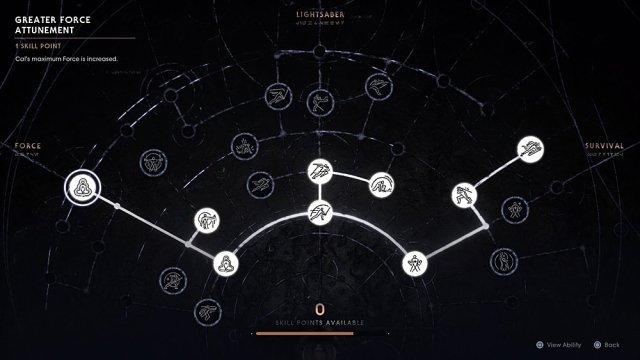 The Skill Tree in Star Wars Jedi Fallen Order, Screenshot: Sophie Brown
