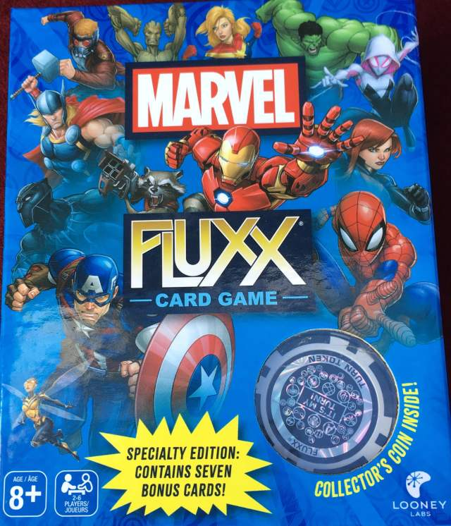 Box cover of Marvel Fluxx