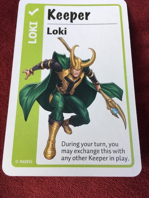 Loki card in Marvel Fluxx